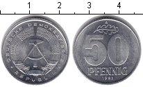 Изображение Монеты ГДР 50 пфеннигов 1982 Алюминий XF