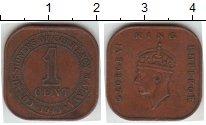 Изображение Монеты Малайя 1 цент 1943  XF Георг VI
