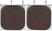Изображение Монеты Малайя 1 цент 1941  XF Георг VI