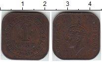 Изображение Монеты Малайя 1 цент 1941  XF