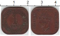 Изображение Монеты Малайя 1 цент 1943  XF