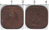 Изображение Монеты Малайя 1 цент 1958  XF