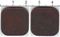 Изображение Монеты Малайя 1 цент 1940  XF