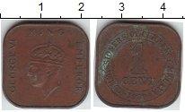 Изображение Монеты Малайя 1 цент 1939  XF
