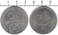 Изображение Монеты ГДР 20 марок 1971 Медно-никель Proof- Отто Гротеволь