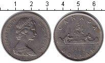 Изображение Монеты Канада 1 доллар 1968 Медно-никель XF Индейцы в каное