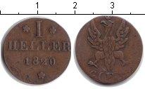 Изображение Монеты Франфуркт 1 геллер 1820 Медь VF