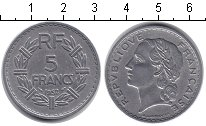 Изображение Монеты Франция 5 франков 1952 Алюминий XF