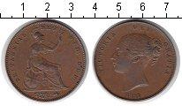 Изображение Монеты Великобритания 1 пенни 1857 Медь XF Виктория