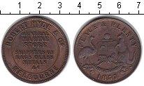 Изображение Монеты Австралия 1 пенни 1857 Медь VF Мельбурн. Токен
