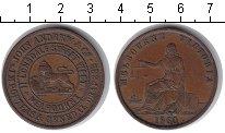 Изображение Монеты Австралия 1 пенни 1860 Медь VF