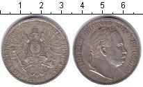Изображение Монеты Германия 1 таллер 1866 Серебро XF Вильгельм.