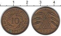 Изображение Монеты Веймарская республика Веймарская республика 1932 Медь XF