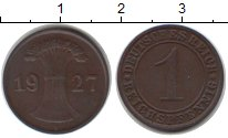 Изображение Монеты Германия 1 пфенниг 1927 Медь XF