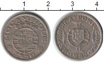 Изображение Монеты Мозамбик 2 1/2 эскудо 1953 Медно-никель  Португальская колони