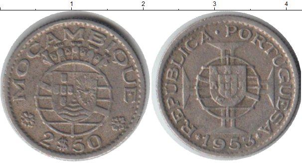 Картинка Монеты Мозамбик 2 1/2 эскудо Медно-никель 1953