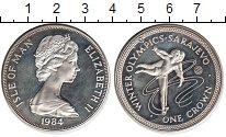 Изображение Монеты Остров Мэн 1 крона 1984 Посеребрение Proof-