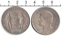 Изображение Монеты Саксония 1 талер 1866 Серебро XF Иоганн V