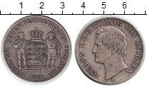 Изображение Монеты Саксония 1 талер 1860 Серебро XF Иоганн V