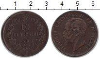 Изображение Монеты Италия 10 сентесим 1867 Медь XF