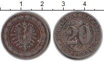 Изображение Монеты Германия 20 пфеннигов 1888 Медно-никель