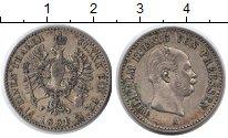 Изображение Монеты Пруссия 1/6 талера 1861 Серебро  Вильгельм.