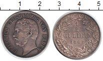 Изображение Монеты Баден 1/2 гульдена 1867 Серебро XF