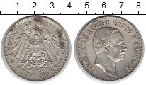Изображение Монеты Саксония 5 марок 1907 Серебро
