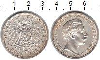 Изображение Монеты Пруссия 3 марки 1910 Серебро XF Вильгельм II.