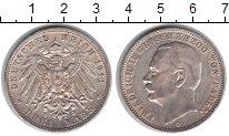Изображение Монеты Баден 3 марки 1911 Серебро XF
