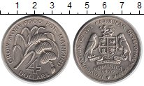 Изображение Монеты Доминиканская республика 4 доллара 1970 Медно-никель XF ФАО.