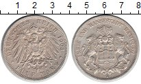 Изображение Монеты Гамбург 5 марок 1903 Серебро XF
