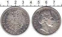 Изображение Монеты Бавария 5 марок 1876 Серебро XF Людвиг II