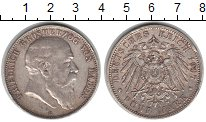 Изображение Монеты Баден 5 марок 1907 Серебро XF