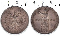 Изображение Монеты Франкфурт 1 талер 1862 Серебро XF Стрелковый фестиваль