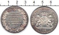 Изображение Монеты Бремен 1 талер 1865 Серебро UNC- Стрелковый фестиваль