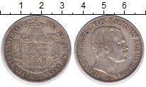 Изображение Монеты Саксен-Альтенбург 1 талер 1858 Серебро XF