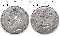 Изображение Монеты Баден 5 марок 1901 Серебро XF