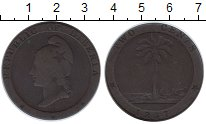 Изображение Монеты Либерия 2 цента 1847 Медь VF