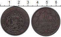 Изображение Монеты Люксембург 10 сантим 1865 Медь VF