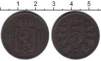 Изображение Монеты Норвегия 5 эре 1875 Медь VF