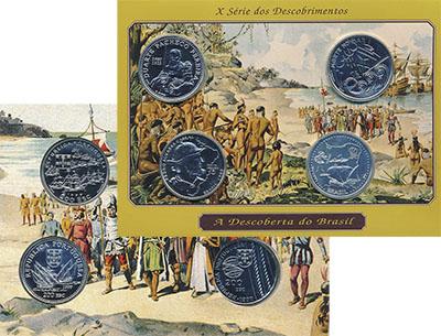 Изображение Подарочные монеты Португалия Корабли и мореплаватели 1999 Серебро UNC