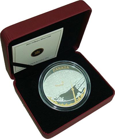 Изображение Подарочные монеты Канада Торонто 2011 Серебро Proof Представляем Вашему