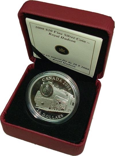 Изображение Подарочные наборы Канада Поезд 2008 Серебро Proof