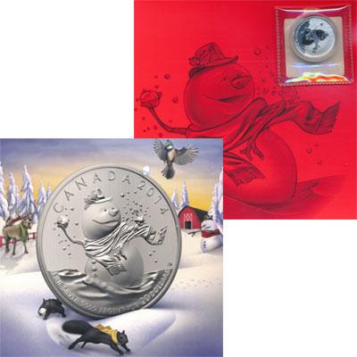 Изображение Подарочные монеты Канада Снеговик 2014 Серебро Proof Представляем Вашему