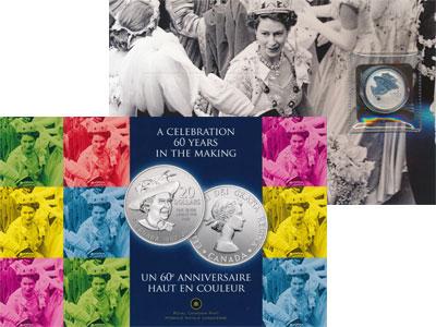 Изображение Подарочные монеты Канада Бриллиантовый Юбилей Королевы 2012 Серебро Proof Представляем Вашему