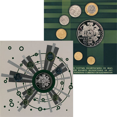 Изображение Мелочь Казахстан 20 лет Национальной Валюте Казахстана 2013  UNC Официальная миниатюр
