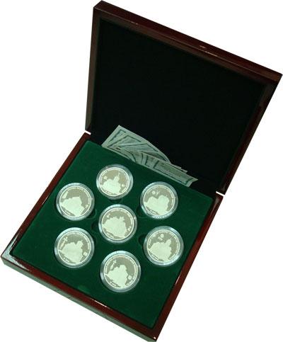 Изображение Подарочные наборы Абхазия Исторические Памятники Абхазии 2010 Серебро Proof `Представляем Вашему