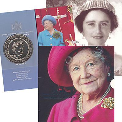 Изображение Подарочные монеты Великобритания 5 фунтов 2002 Медно-никель UNC `Представляем Вашему