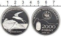 Изображение Монеты Венгрия 2000 форинтов 1998 Серебро UNC- Фонд живой природы.